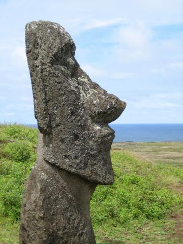 Easter Island Heads In Spanish